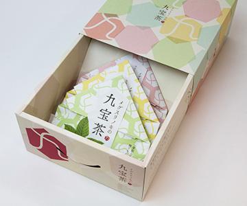 《上市・ティーツリーコミュニケーションズ》メグスリノキの九宝茶3種ギフトパック