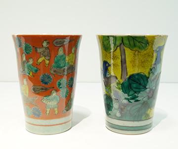 《九谷焼》ペアフリーカップ・吉田屋/木米