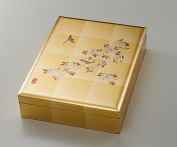 《金箔 箔一》花見鳥 合口文庫(A4サイズ)