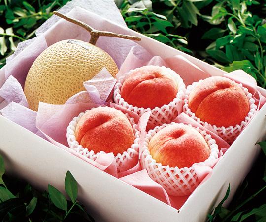 〈愛知・山梨〉マスクメロンと桃