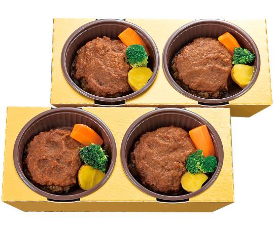 〈兵庫/神戸のじぎく家〉電子レンジで簡単調理神戸牛のハンバーグ