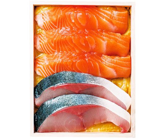 〈金沢/日本料理銭屋〉ブリとサーモンの山椒みそ漬
