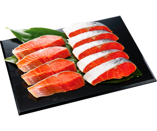 〈石川/十字屋〉カナダ産紅鮭切身詰合せ