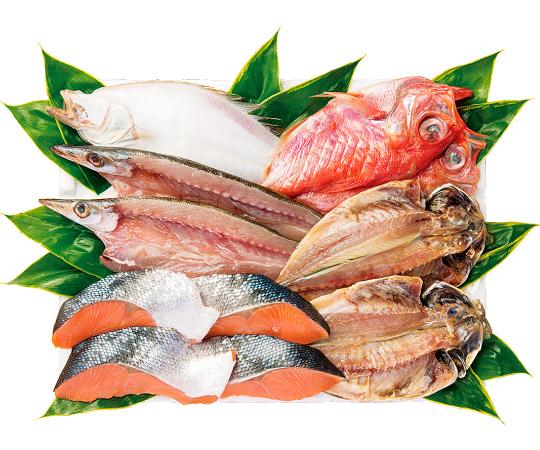 〈石川/十字屋〉一夜干・鮭詰合せ