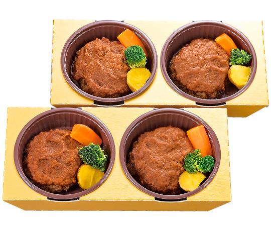 【直送】〈神戸 のじぎく家〉電子レンジで簡単調理 神戸牛のハンバーグ