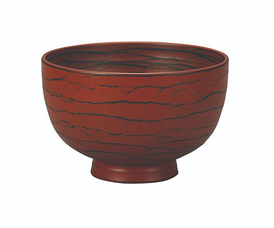 【逸品】<kinsai>汁椀 ハツリ筋 根来塗 1個 【サイズ:直径11.0cm 高さ6.8cm】