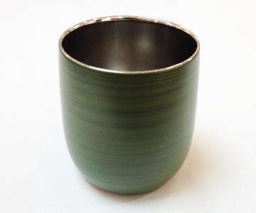 《漆磨(シーマ)》カップ 二重だるまパール (緑)