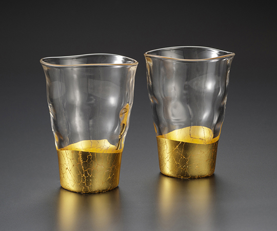 《金箔 箔一》貫入 一口グラス2個組